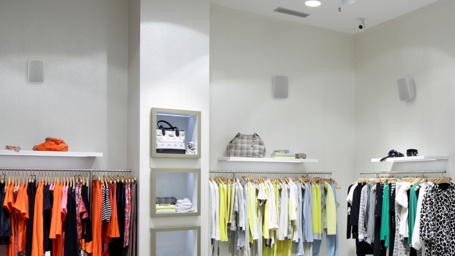 BSP200 Network speakers in a store installation